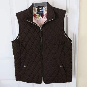Land's End Brown Quilted Vest